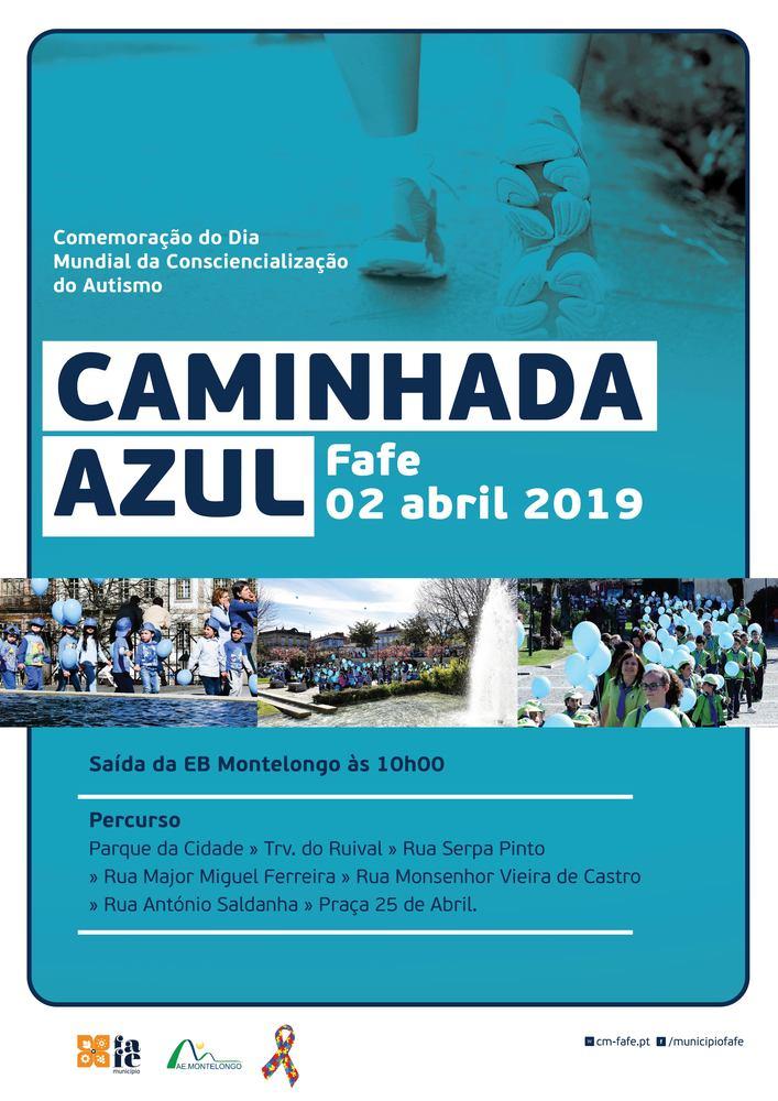 Cartaz caminhadaazul 2019