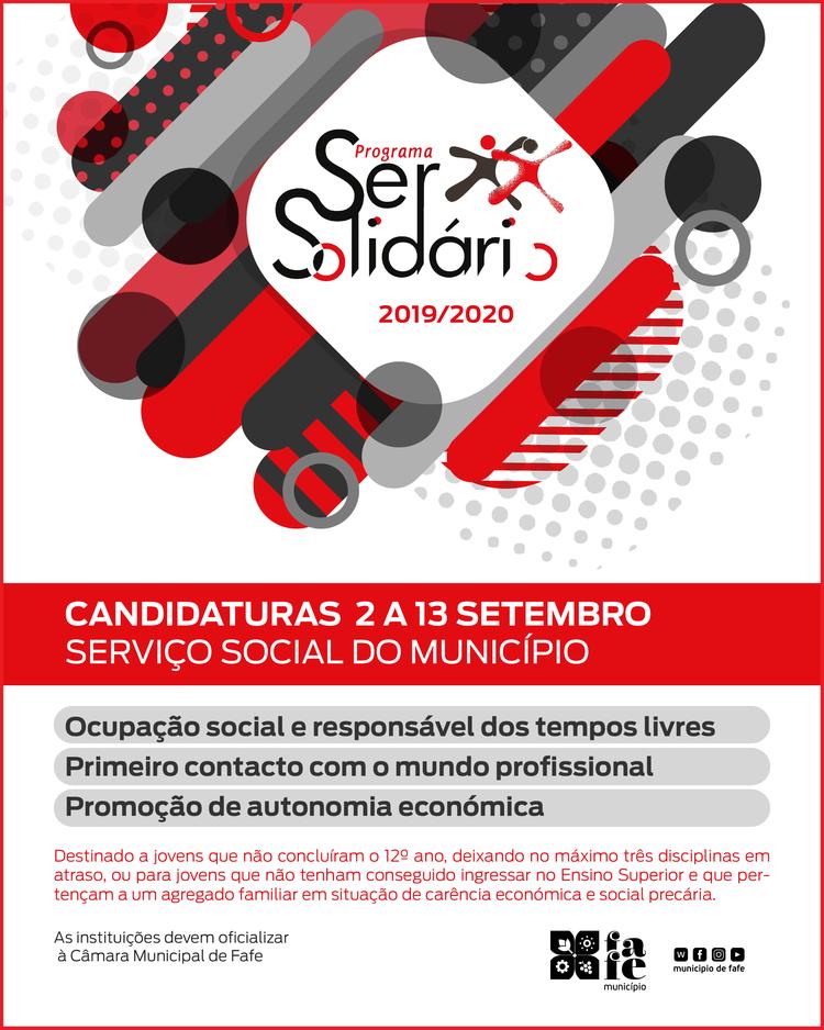 Cartaz ser solidario 2019 2020
